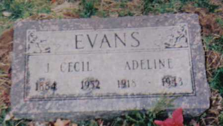 EVANS, J. CECIL - Scioto County, Ohio | J. CECIL EVANS - Ohio Gravestone Photos