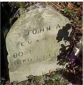 EVANS, JOHN A. - Scioto County, Ohio | JOHN A. EVANS - Ohio Gravestone Photos