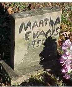 EVANS, MARTHA - Scioto County, Ohio | MARTHA EVANS - Ohio Gravestone Photos