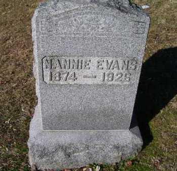 EVANS, NANNIE - Scioto County, Ohio | NANNIE EVANS - Ohio Gravestone Photos