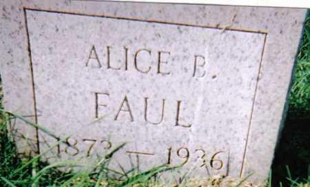 FAUL, ALICE B. - Scioto County, Ohio   ALICE B. FAUL - Ohio Gravestone Photos