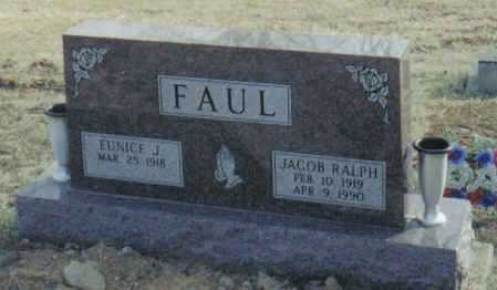 FAUL, EUNICE J. - Scioto County, Ohio | EUNICE J. FAUL - Ohio Gravestone Photos
