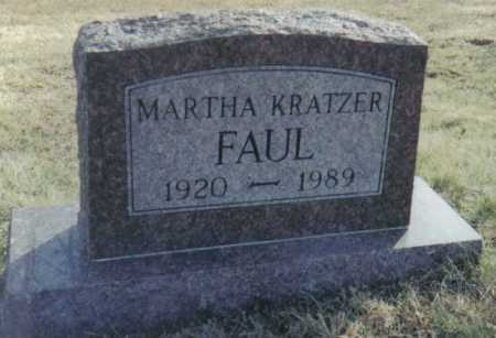 FAUL, MARTHA - Scioto County, Ohio | MARTHA FAUL - Ohio Gravestone Photos