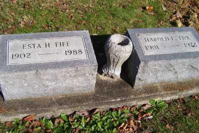 FIFE, ESTA H. - Scioto County, Ohio | ESTA H. FIFE - Ohio Gravestone Photos