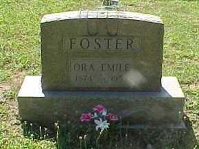 FOSTER, ORA EMILE - Scioto County, Ohio | ORA EMILE FOSTER - Ohio Gravestone Photos