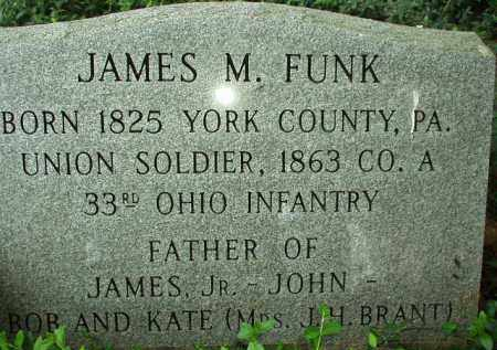 FUNK, JAMES M. - Scioto County, Ohio | JAMES M. FUNK - Ohio Gravestone Photos
