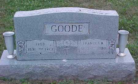 GOODE, FRANCES B. - Scioto County, Ohio | FRANCES B. GOODE - Ohio Gravestone Photos