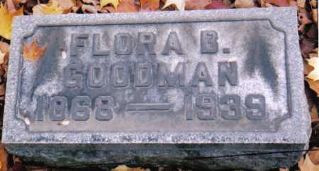 GOODMAN, FLORA B. - Scioto County, Ohio   FLORA B. GOODMAN - Ohio Gravestone Photos