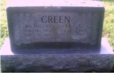 GREEN, WILLIAM DALLAS - Scioto County, Ohio | WILLIAM DALLAS GREEN - Ohio Gravestone Photos