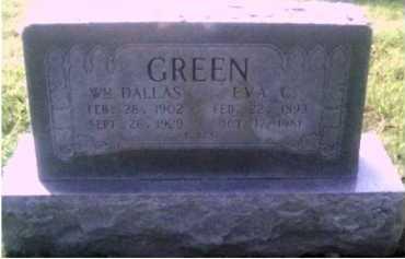 GREEN, WILLIAM DALLAS - Scioto County, Ohio | WILLIAM DALLAS GREEN - Ohio Gravestone Photos