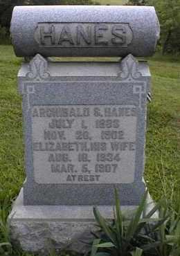 HANES, ARCHIBALD - Scioto County, Ohio   ARCHIBALD HANES - Ohio Gravestone Photos