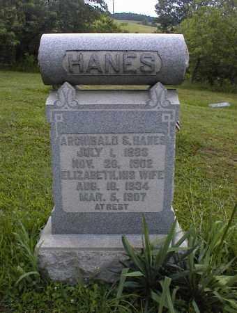 HANES, ARCHIBALD - Scioto County, Ohio | ARCHIBALD HANES - Ohio Gravestone Photos