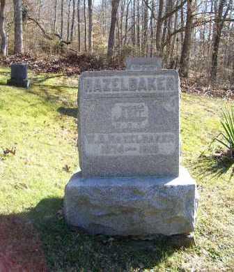 HAZELBAKER, W. A. - Scioto County, Ohio | W. A. HAZELBAKER - Ohio Gravestone Photos