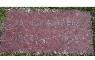 HOBBS, ESTHER A. - Scioto County, Ohio | ESTHER A. HOBBS - Ohio Gravestone Photos