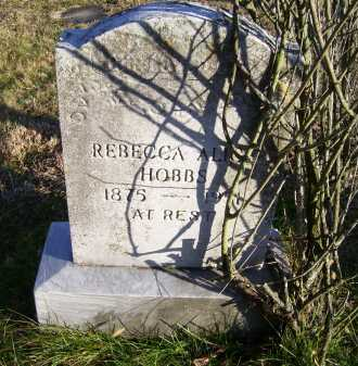 HOBBS, REBECCA ALICE - Scioto County, Ohio   REBECCA ALICE HOBBS - Ohio Gravestone Photos