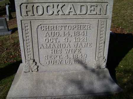HOCKADEN, CHRISTOPHER - Scioto County, Ohio | CHRISTOPHER HOCKADEN - Ohio Gravestone Photos