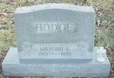 HODGE, MILFORD E. - Scioto County, Ohio | MILFORD E. HODGE - Ohio Gravestone Photos
