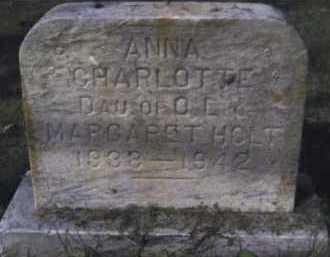 HOLT, ANNA CHARLOTTE - Scioto County, Ohio | ANNA CHARLOTTE HOLT - Ohio Gravestone Photos