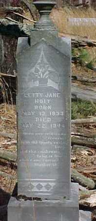 HOLT, SETTY JANE - Scioto County, Ohio   SETTY JANE HOLT - Ohio Gravestone Photos