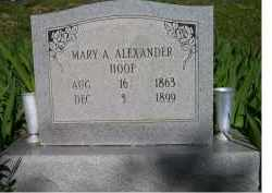 ALEXANDER HOOP, MARY A. - Scioto County, Ohio | MARY A. ALEXANDER HOOP - Ohio Gravestone Photos