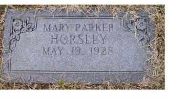 HORSLEY, MARY PARKER - Scioto County, Ohio | MARY PARKER HORSLEY - Ohio Gravestone Photos