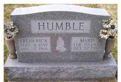 HUMBLE, FREDERICK - Scioto County, Ohio | FREDERICK HUMBLE - Ohio Gravestone Photos