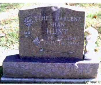 SHAW HUNT, ETHEL DARLENE - Scioto County, Ohio | ETHEL DARLENE SHAW HUNT - Ohio Gravestone Photos