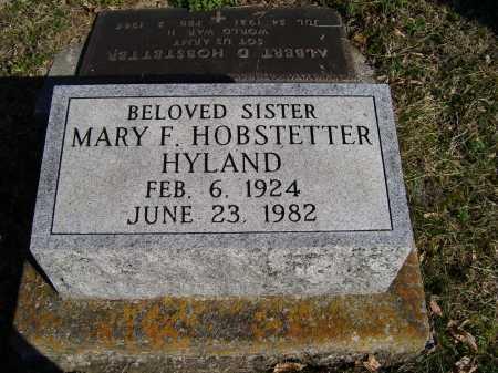 HOBSTETTER HYLAND, MARY F. - Scioto County, Ohio | MARY F. HOBSTETTER HYLAND - Ohio Gravestone Photos