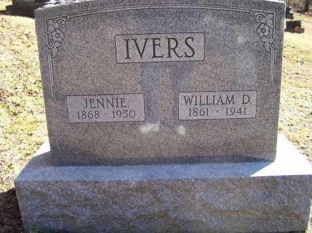 IVERS, JENNIE - Scioto County, Ohio | JENNIE IVERS - Ohio Gravestone Photos
