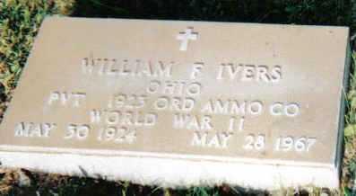 IVERS, WILLIAM F. - Scioto County, Ohio | WILLIAM F. IVERS - Ohio Gravestone Photos