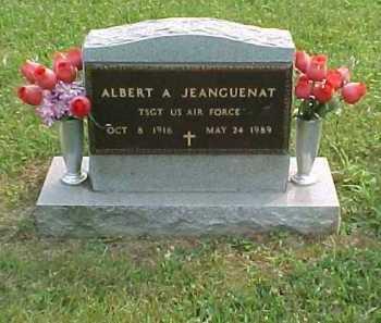 JEANGUENAT, ALBERT A. - Scioto County, Ohio | ALBERT A. JEANGUENAT - Ohio Gravestone Photos