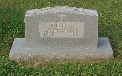 JEANGUENAT, PHILIP W. - Scioto County, Ohio   PHILIP W. JEANGUENAT - Ohio Gravestone Photos