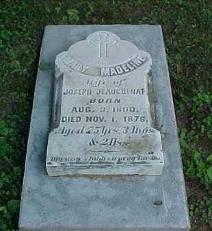 JEAUGUENAT, MARY MADELINE - Scioto County, Ohio | MARY MADELINE JEAUGUENAT - Ohio Gravestone Photos