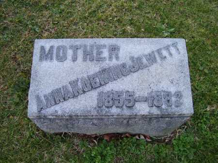 KOENING JEWETT, ANNA - Scioto County, Ohio | ANNA KOENING JEWETT - Ohio Gravestone Photos