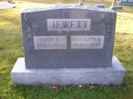 JEWETT, ELIZABETH - Scioto County, Ohio | ELIZABETH JEWETT - Ohio Gravestone Photos