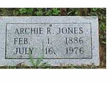 JONES, ARCHIE R. - Scioto County, Ohio   ARCHIE R. JONES - Ohio Gravestone Photos