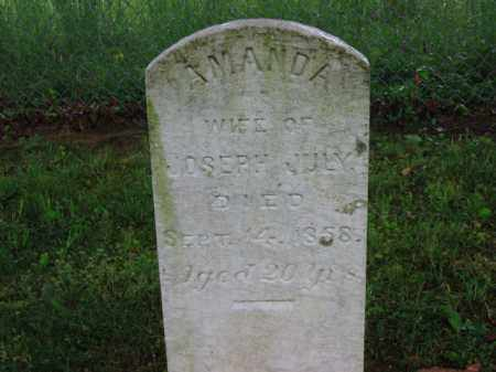 JULY, AMANDA - Scioto County, Ohio   AMANDA JULY - Ohio Gravestone Photos