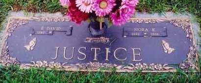 JUSTICE, NORA - Scioto County, Ohio | NORA JUSTICE - Ohio Gravestone Photos