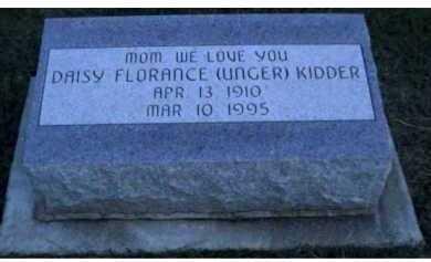 UNGER KIDDER, DAISY FLORENCE - Scioto County, Ohio   DAISY FLORENCE UNGER KIDDER - Ohio Gravestone Photos