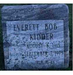 KIDDER, EVERETT BOB - Scioto County, Ohio | EVERETT BOB KIDDER - Ohio Gravestone Photos