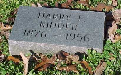 KIDDER, HARRY - Scioto County, Ohio | HARRY KIDDER - Ohio Gravestone Photos