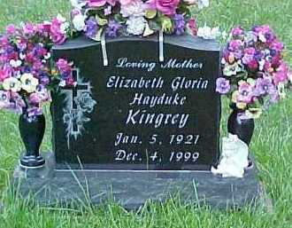 HAYDUKE KINGREY, ELIZABETH GLORIA - Scioto County, Ohio   ELIZABETH GLORIA HAYDUKE KINGREY - Ohio Gravestone Photos