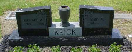 KRICK, MARY V. - Scioto County, Ohio | MARY V. KRICK - Ohio Gravestone Photos