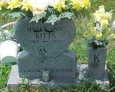 KITTS, MOLLY ANN - Scioto County, Ohio   MOLLY ANN KITTS - Ohio Gravestone Photos