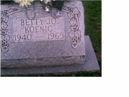 MOORE KOENIG, BETTY JO - Scioto County, Ohio | BETTY JO MOORE KOENIG - Ohio Gravestone Photos
