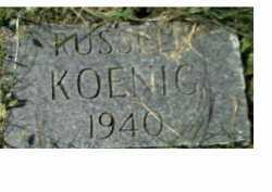 KOENIG, RUSSELL - Scioto County, Ohio   RUSSELL KOENIG - Ohio Gravestone Photos