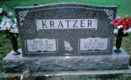 KRATZER, J. D. - Scioto County, Ohio | J. D. KRATZER - Ohio Gravestone Photos