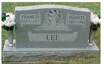 LEE, FRANCIS - Scioto County, Ohio   FRANCIS LEE - Ohio Gravestone Photos