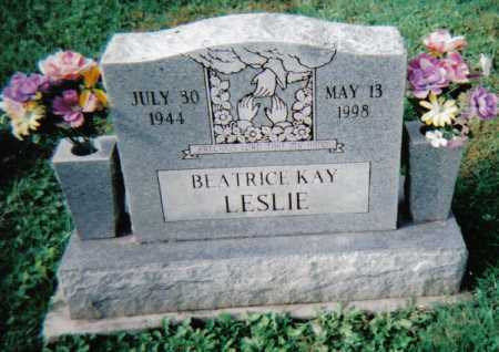 LESLIE, BEATRICE KAY - Scioto County, Ohio | BEATRICE KAY LESLIE - Ohio Gravestone Photos