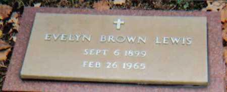 BROWN LEWIS, EVELYN - Scioto County, Ohio | EVELYN BROWN LEWIS - Ohio Gravestone Photos